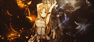 Asuna and Kirito Signature by PiritoO