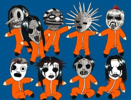 Slipknot Chibis by RAMENmanga-ka