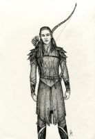 Tirithadain, Captain of the Guard of Eryn Lasgalen by MyWorld1