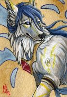 Angelic - ACEO for TwilitTiger by wolf-minori