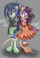 Eliot and Abigail by esonic64