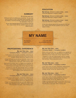 Creative Resume - Old Style by rkaponm