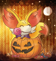happi halloween from a fennekin by FENNEKlNS