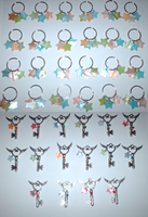 BBS Keychains and Keys by ZombieDogInk