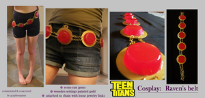 Teen Titans Cosplay: Raven's Belt by Graphospasm