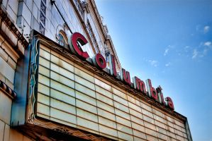 Columbia Theatre Marquee by TomFawls
