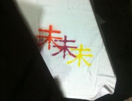 Stenciled Shirt by anonymousnekodos