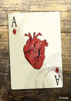Ace of hearts by UriMenta
