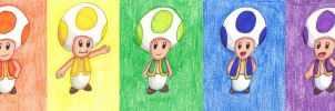 Toad Rainbow by Cpr-Covet