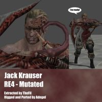 Jack Krauser RE4 Mutated Arm by Adngel