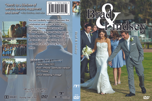 Brad and Lindsey Carter Wedding DVD Cover by EvlD