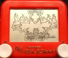 Combusken Etch a Sketch by pikajane