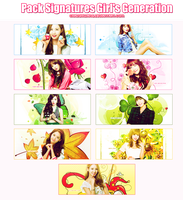 [ Pack Signatures ] SNSD  6 years debut ( 5 - 8 ) by ChandyHwang