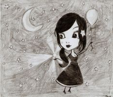 Girl with a balloon by tite-pao