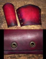 Blood Warrior Bracers - Color by RuehlLeatherWorks