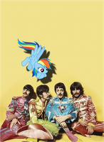 Rainbow Dash and The Beatles by Bronyman1995