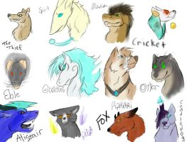 LaF Head shots by FantasyDemonAngel