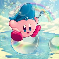flying on a bubble by Blopa1987