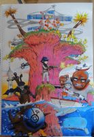 Bright Plastic Beach by TrixiCat