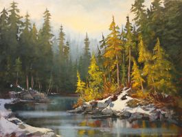 Forest Stream Whistler by artistwilder