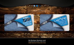 Zip Business Card by arsalan-design