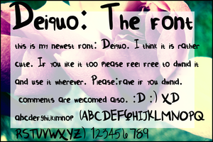 Deiquo the Font by Kaiminden