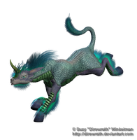 Fantasy Oriental Unicorn png Stock Water by Direwrath