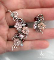 The daughter of samurai silver ear cuffs by JSjewelry