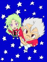 Shion and DM in Eyeshield21 by MZ15
