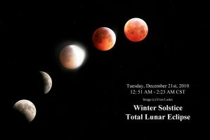 Winter Solstice Lunar Eclipse by FramedByNature