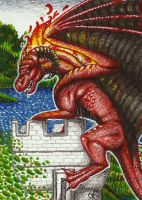 ACEO: Castle captured! by Augala