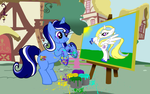 Sapphire Shade and Her Masterpiece by Akili-Amethyst