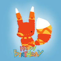 Happy Birthday from Pretztail by CircusyCici