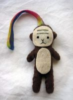 Monkey Keychain by uglykat
