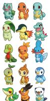 Pokemon Starter Sets 1-5