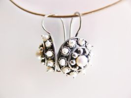 Patinated silver earrings by irineja