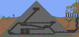 The great pyramid of Terraria by shinypuni