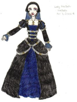 Lady MacBeth Costume Design 2 by AdmiralCookie