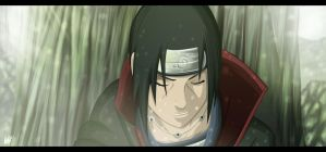 Itachi smile by iGeerr