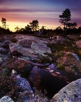 Skuleskogen sunset by MartinAmm