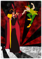 Jafar vs. Peter Pan by andy-pants