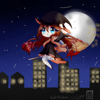 Flying over the city by MeloBunii