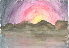 watercolour sunrise 01 by wolfds