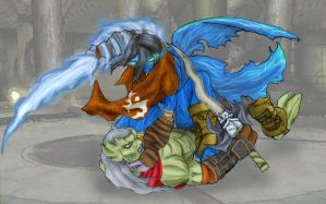 Raziel Vs. Kain by Arta