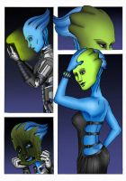 Citadel Green - Liara T'soni Mask Transformation by MaskedWander