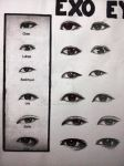Close up of EXO eyes practice 1 #2 by Coraline125