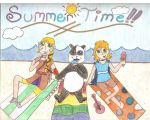 Anime Contest: Summer Time Fun with Friends :) by AbbyCatWolff
