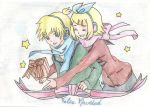 Rin and Len Kagamine art by Suzuneah