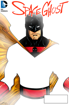 Space Ghost Cover by dwaynebiddixart