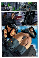 Lady Titan Page 1 color by ericalannelson